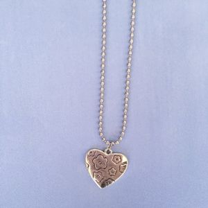 New Heart Pendant Ball Chain Necklace